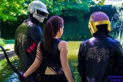 Me and the Daft Punk guys! Photo cred: Detravoid Concept