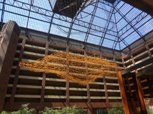 The Nebula Sculpture made of over 14,000 bicycle reflectors