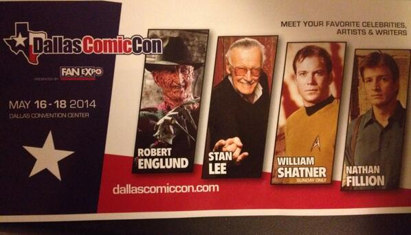 The first wave of guests for Dallas Comic Con announced at Sci-Fi Expo